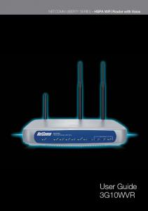NETCOMM LIBERTY SERIES - HSPA WiFi Router with Voice. User Guide 3G10WVR. HSPA WiFi Router with Voice-User Guide