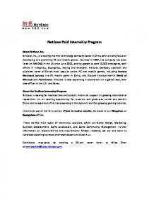 NetEase Paid Internship Program
