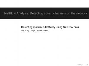 NetFlow Analysis: Detecting covert channels on the network