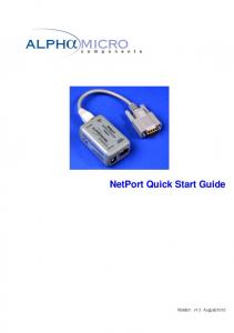 NetPort Quick Start Guide