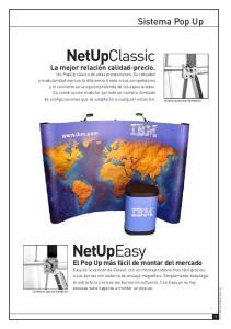 NetUpClassic. NetUpEasy. Sistema Pop Up