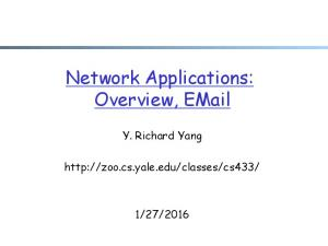 Network Applications: Overview,