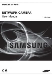 NETWORK CAMERA. User Manual SNV-7080