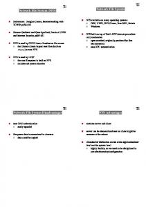 Network File System. Network File System (NFS) NFS Advantages. Network File System Disadvantages