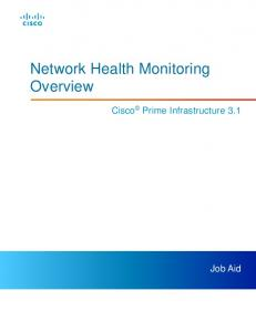 Network Health Monitoring Overview