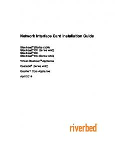 Network Interface Card Installation Guide