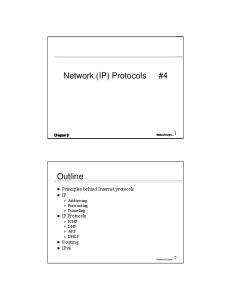 Network (IP) Protocols #4