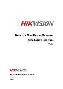 Network Mini Dome Camera Installation Manual