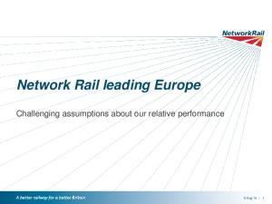 Network Rail leading Europe