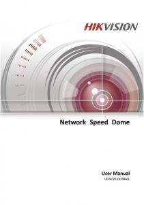 Network Speed Dome User Manual