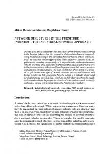 NETWORK STRUCTURES IN THE FURNITURE INDUSTRY THE INDUSTRIAL NETWORK APPROACH