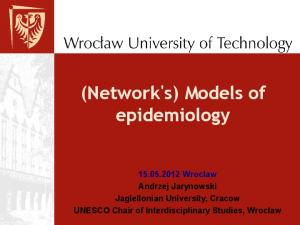 (Network's) Models of epidemiology