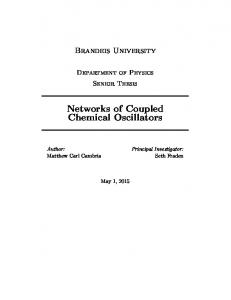Networks of Coupled Chemical Oscillators