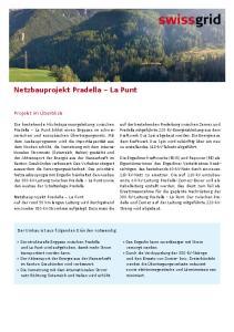 Netzbauprojekt Pradella La Punt