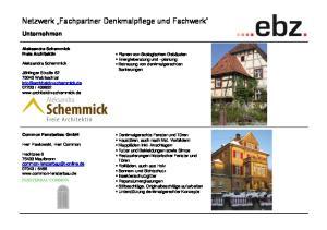 Netzwerk Fachpartner Denkmalpflege und Fachwerk
