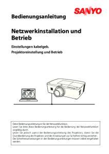 Netzwerkinstallation und Betrieb
