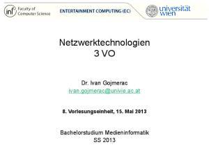 Netzwerktechnologien 3 VO