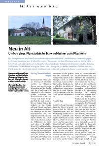 Neu in Alt. Umbau eines Pfarrstadels in Schwindkirchen zum Pfarrheim