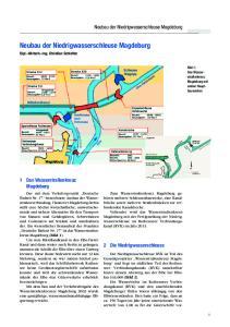 Neubau der Niedrigwasserschleuse Magdeburg