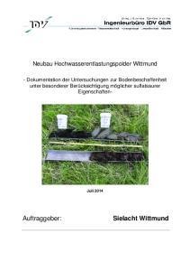 Neubau Hochwasserentlastungspolder Wittmund