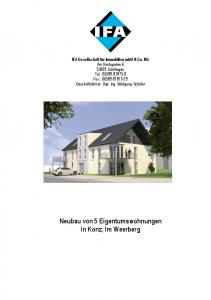 Neubau von 5 Eigentumswohnungen in Konz, Im Weerberg