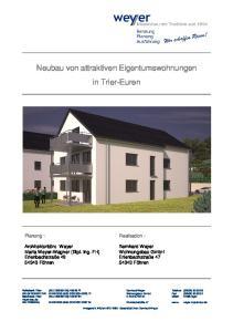 Neubau von attraktiven Eigentumswohnungen in Trier-Euren