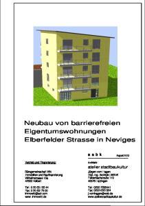 Neubau von barrierefreien Eigentumswohnungen Elberfelder Strasse in Neviges