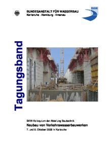 Neubau von Verkehrswasserbauwerken