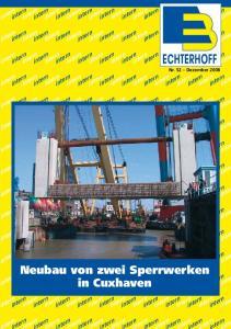 Neubau von zwei Sperrwerken in Cuxhaven