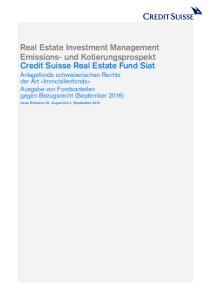 Neue Emission 22. August bis 2. September 2016