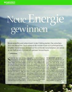 Neue Energie gewinnen
