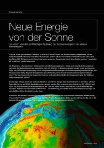 Neue Energie von der Sonne