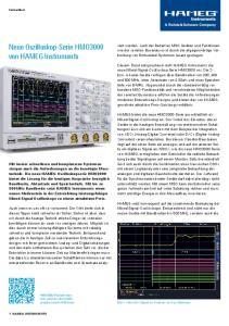 Neue Oszilloskop-Serie HMO3000 von HAMEG Instruments
