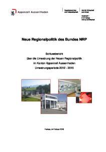 Neue Regionalpolitik des Bundes NRP