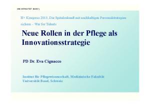 Neue Rollen in der Pflege als Innovationsstrategie