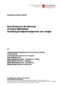 Neue Strukturen in der Betreuung der Natura-2000 Gebiete: Vorstellung der Regionsmanagerinnen und -manager