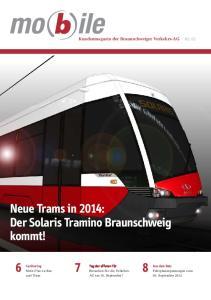 Neue Trams in 2014: Der Solaris Tramino Braunschweig kommt!