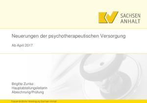Neuerungen der psychotherapeutischen Versorgung