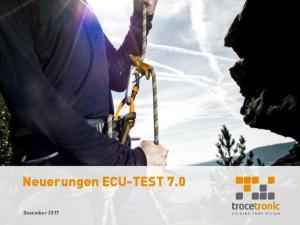 Neuerungen ECU-TEST 7.0