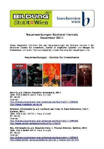 Neuerwerbungen Bücherei Hernals Dezember 2011