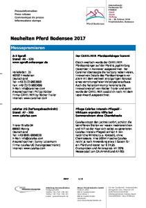 Neuheiten Pferd Bodensee 2017