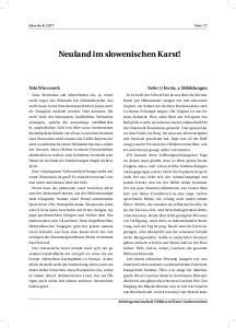 Neuland im slowenischen Karst!