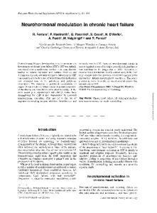Neurohormonal modulation in chronic heart failure