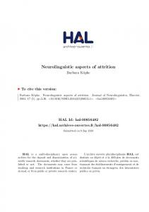 Neurolinguistic aspects of attrition