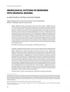 Neurological outcome of newborns with neonatal seizures
