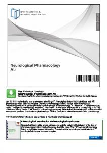 Neurological Pharmacology Ati