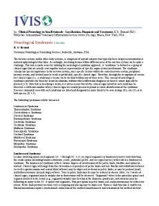 Neurological Syndromes (7-Feb-2003)