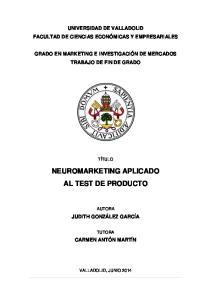 NEUROMARKETING APLICADO AL TEST DE PRODUCTO