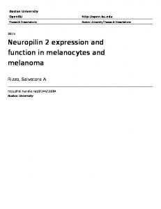 Neuropilin 2 expression and function in melanocytes and melanoma
