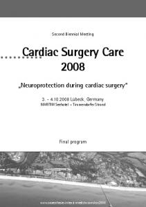 Neuroprotection during cardiac surgery